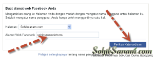 merubah alamat fanspage facebook