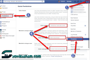 Cara Memblokir Teman, Aplikasi ,Undangan Di Facebook