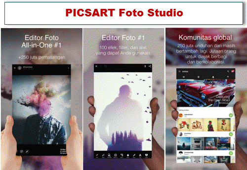 aplikasi edit foto android terbaik picsart photo studio
