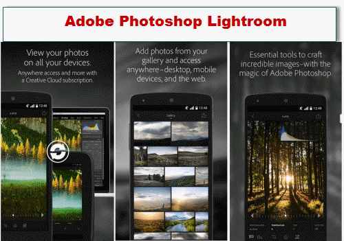 aplikasi edit foto android tercanggih Adobe Photoshop Lightroom
