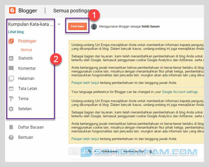 cara membuat blog sudah selesai