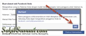 merubah alamat fanspage facebook lebih ringkas