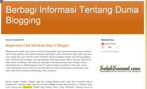 tampilan membuat blog sendiri di blogger