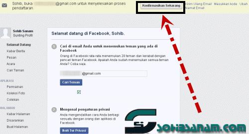 bagaimana mendaftar akun facebook baru