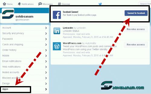 cara membuat status facebook tampil di twitter
