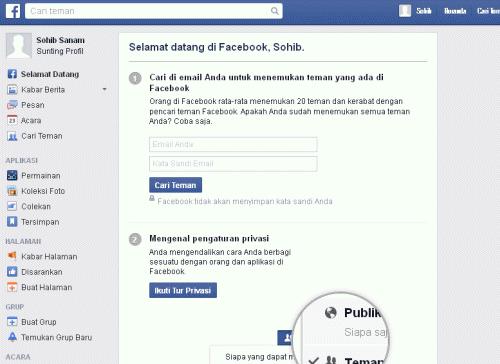 mendaftar facebook baru