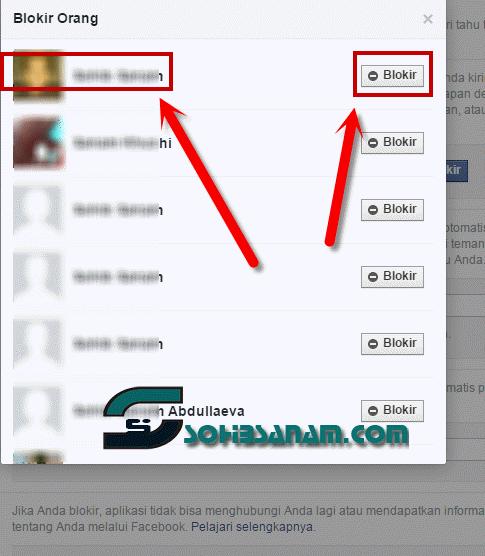 cara memblokir teman facebook