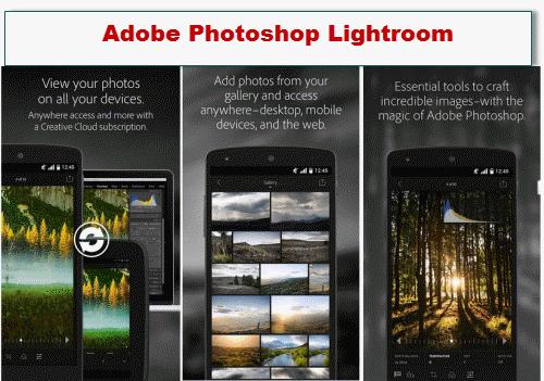 aplikasi edit foto android tercanggih Adobe Photoshop Lightroom