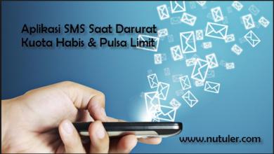 Aplikasi SMS Saat Darurat Kuota Habis & Pulsa Limit