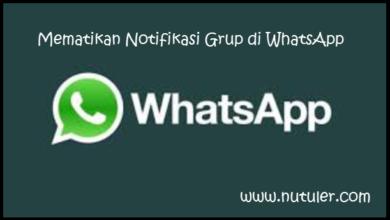 Mematikan Notifikasi Grup di WhatsApp