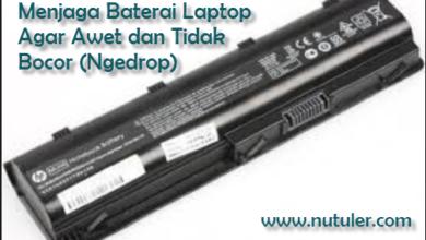 menjaga baterai laptop agar awet
