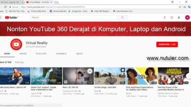 nonton YouTube 360 Derajat