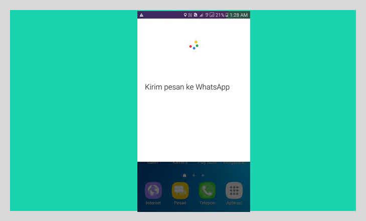 kirim pesan ke whatsapp dengan suara