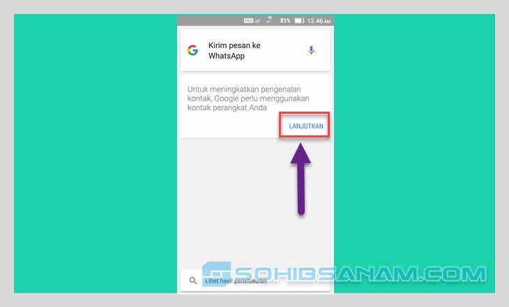 pengenalan google ke kontak smartphone