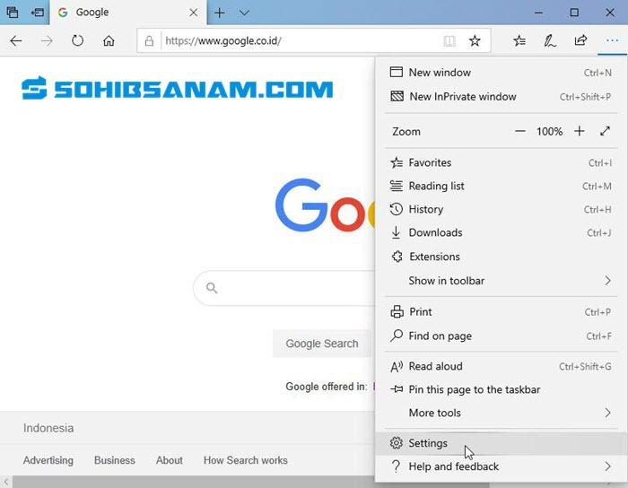 cara membersihkan browser bawaan windows 10