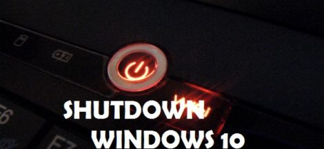 cara shutdown windows 10