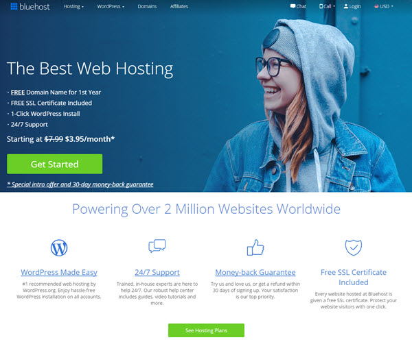 jasa web hosting bluehost