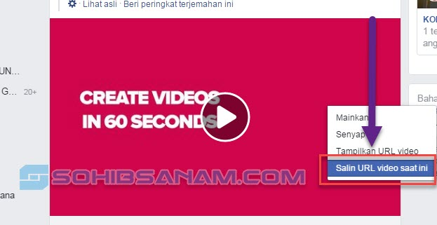 cara download video facebook di komputer