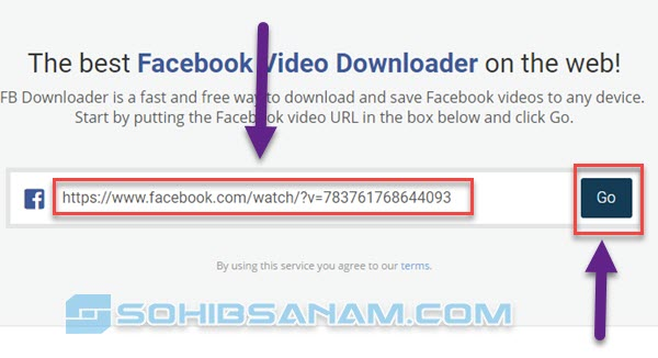 copy paste link video facebook
