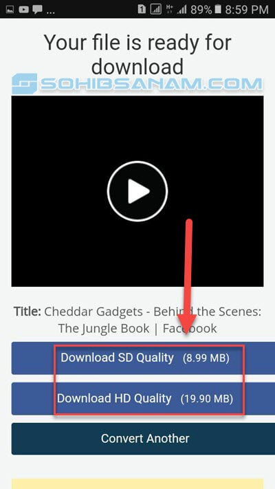 link download video di aplikasi facebook ready