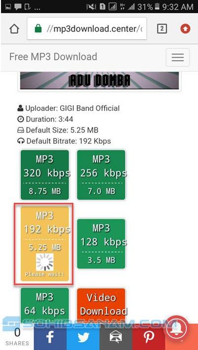 memilih kualitas mp3 download lagu