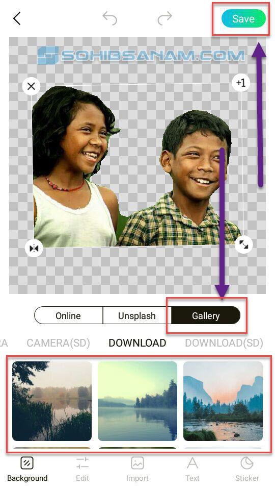 menyesuaikan gambar pada background foto