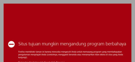 Situs tujuan mengandung program berbahaya