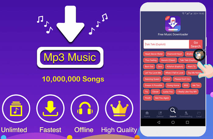 aplikasi download lagu Free Music Downloader