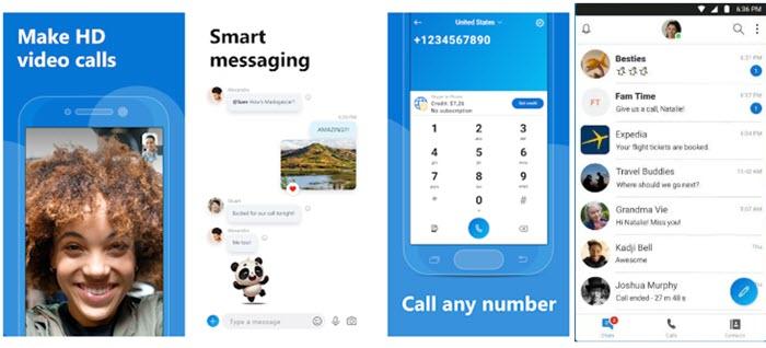 aplikasi Skype android