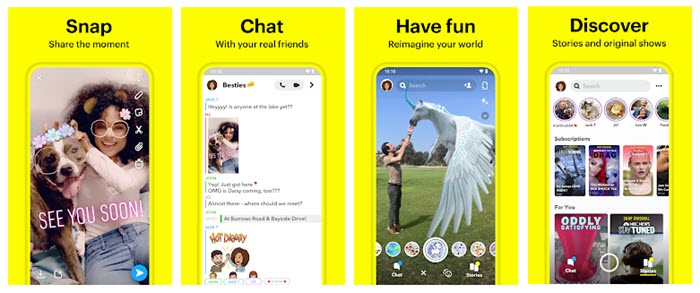 snapchat aplikasi sosialmedia 2020