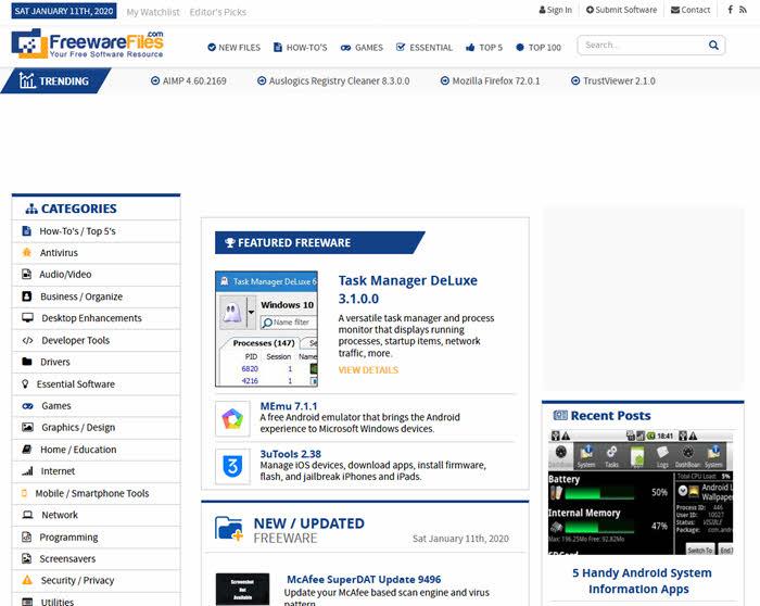 freewarefiles.com situs software gratis terbaik