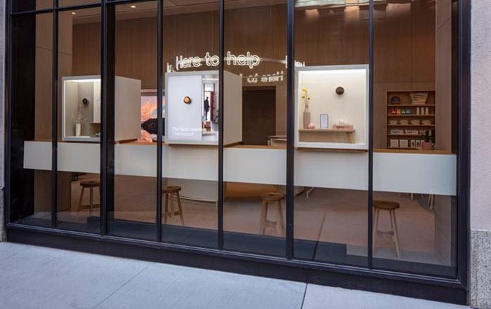 interior toko ritel google newyork